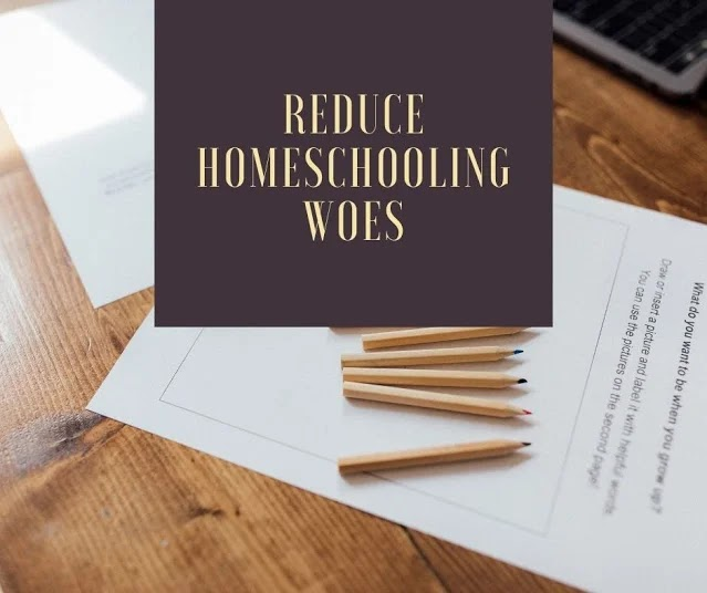 Tips to reduce homeschooling stress