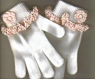 Glove edging- crocheted