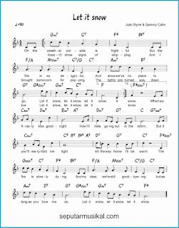 chord let it snow lagu jazz standar