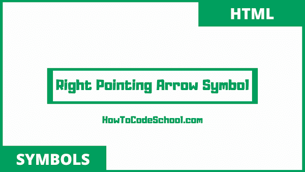 Right Pointing Arrow Symbols