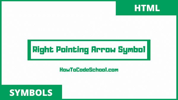 Right Pointing Arrow Symbols