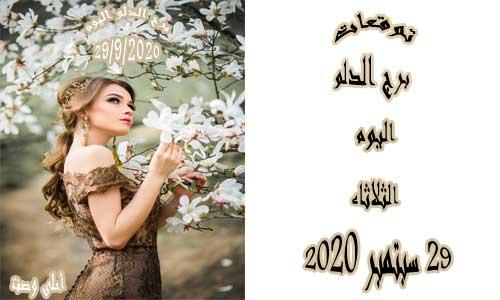 توقعات برج الدلو اليوم 29/9/2020 الثلاثاء 29 سبتمبر / أيلول 2020 ، Aquarius