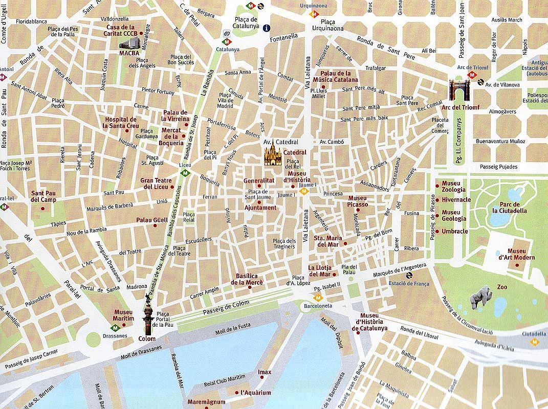 Map of Barcelona  Free Printable Maps