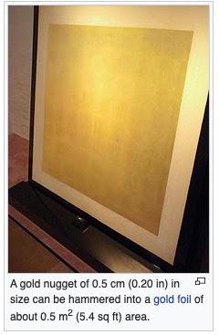 lembaran emas tipis