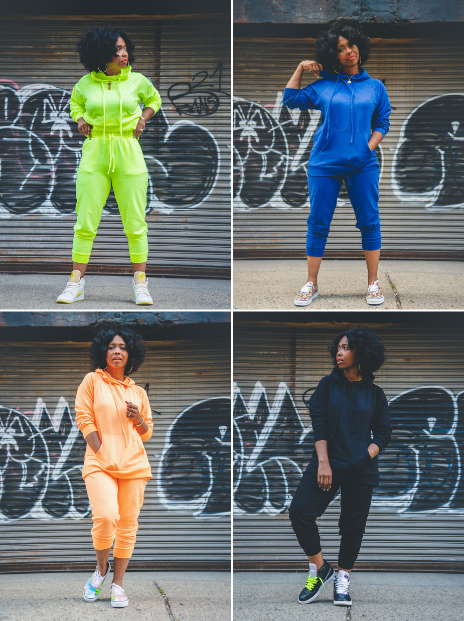 Sweenee Style, how to wear a jogging suit, girls that wear jordans, easy fall outfit ideas, how to wear natural hair, black girls that blog