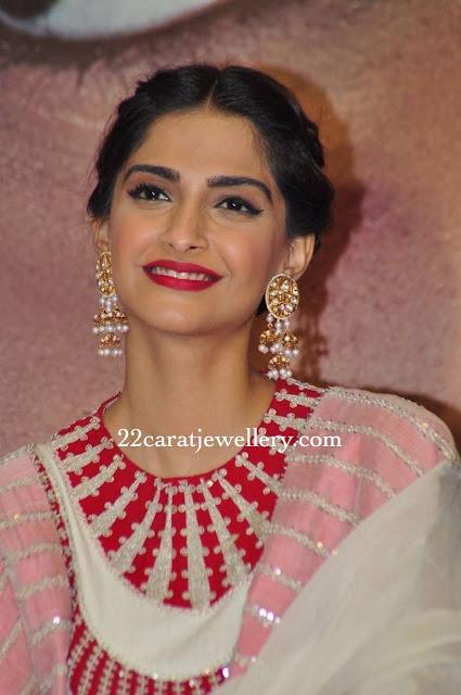 Sonam Kapoor Flat Diamond Chandbalis