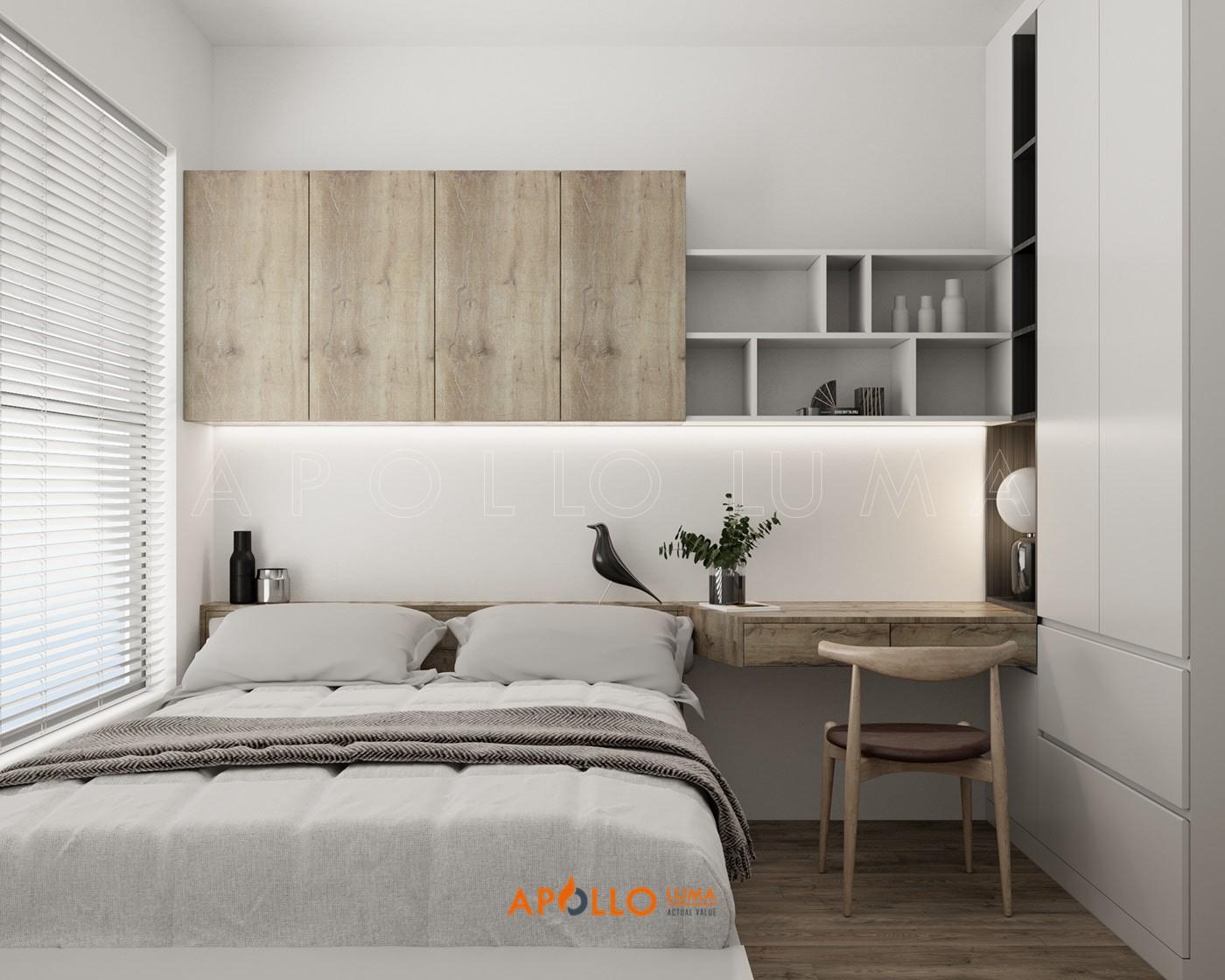 Thiết kế nội thất căn 3 phòng ngủ S2.03-06 Vinhomes Smart City