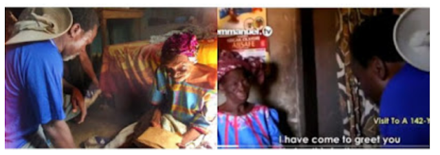 VIDEO: TB Joshua pays a visit to 142-year-old woman, giving her N300,000.