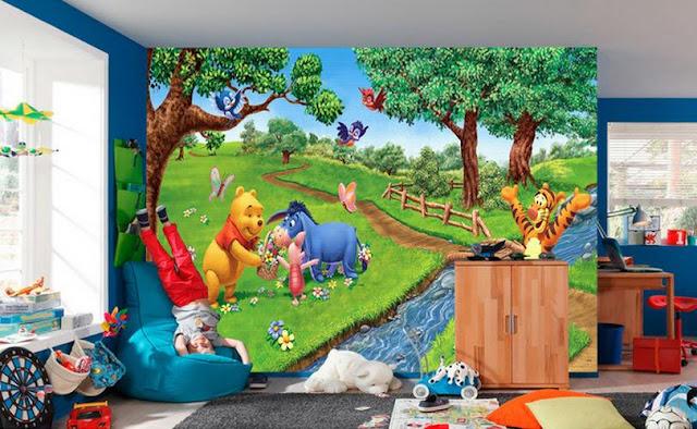 Winnie the Pooh Wall Mural Kids Room