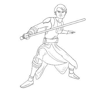 Star Wars Anakin Skywalker coloring picture for kids | Star wars ... | 308x370