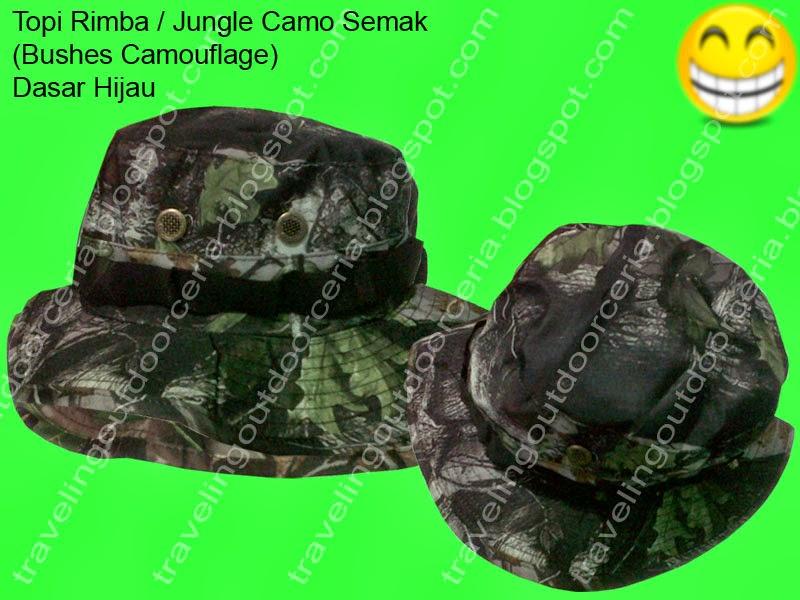 Traveling Outdoor Ceria  Topi Rimba Camo Semak Hijau - Camouflage ... d69e6aa5a6