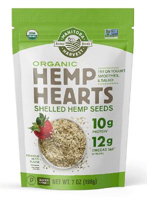 Pacote com sementes de cânhamo cannabis