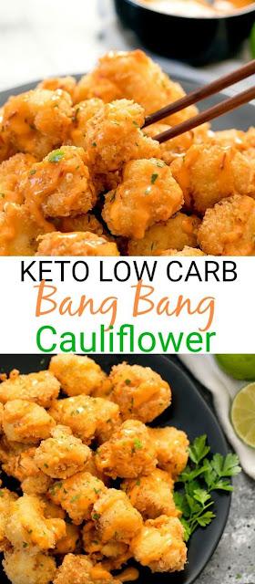 Keto Low Carb Bang Bang Cauliflower