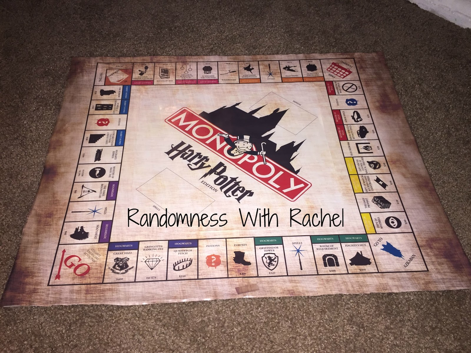Randomness With Rachel Craft Project Harry Potter Monopoly