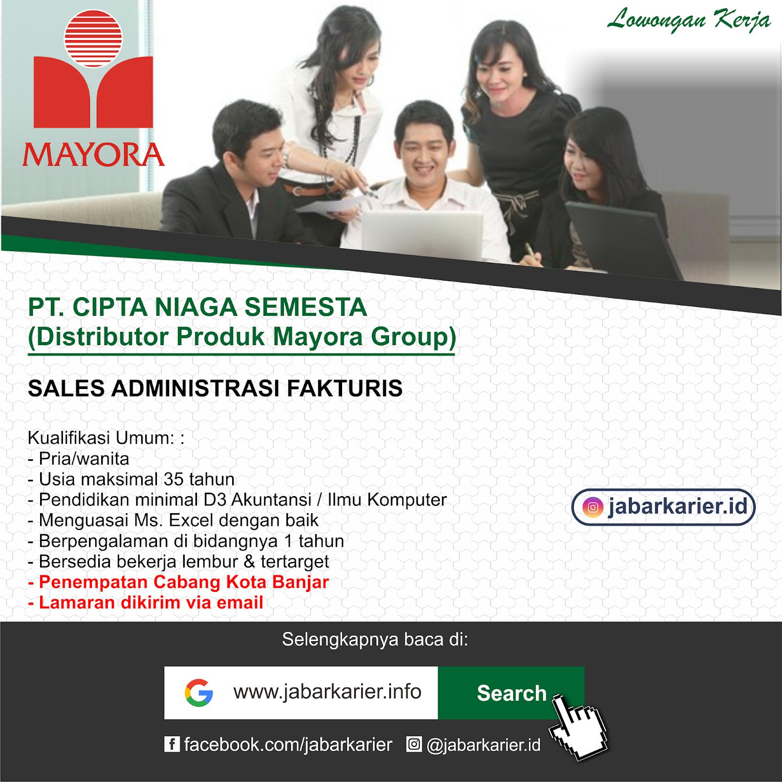 Lowongan Kerja Pt Mayora Kota Banjar Jawa Barat Lowongan Kerja Terbaru Tahun 2020 Informasi Rekrutmen Cpns Pppk 2020