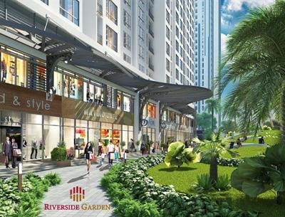 Không gian xanh tại chung cư Riverside Garden