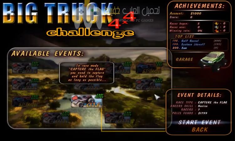 تحميل لعبة السيارات Big Truck 4x4 برابط مباشر