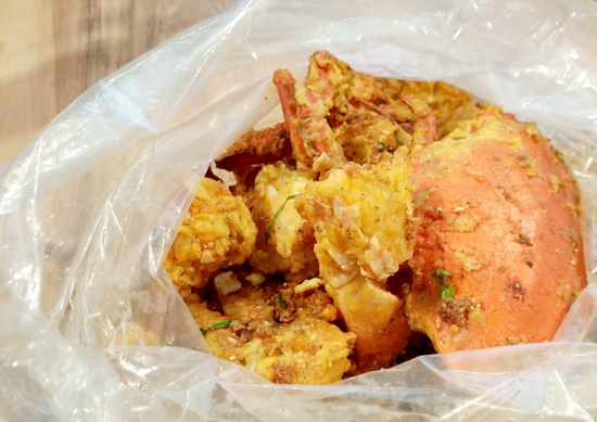 Fried Garlic Crab, Blue Posts Boiling Crabs and Shrimps