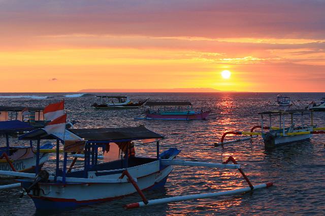 sunset di lombok