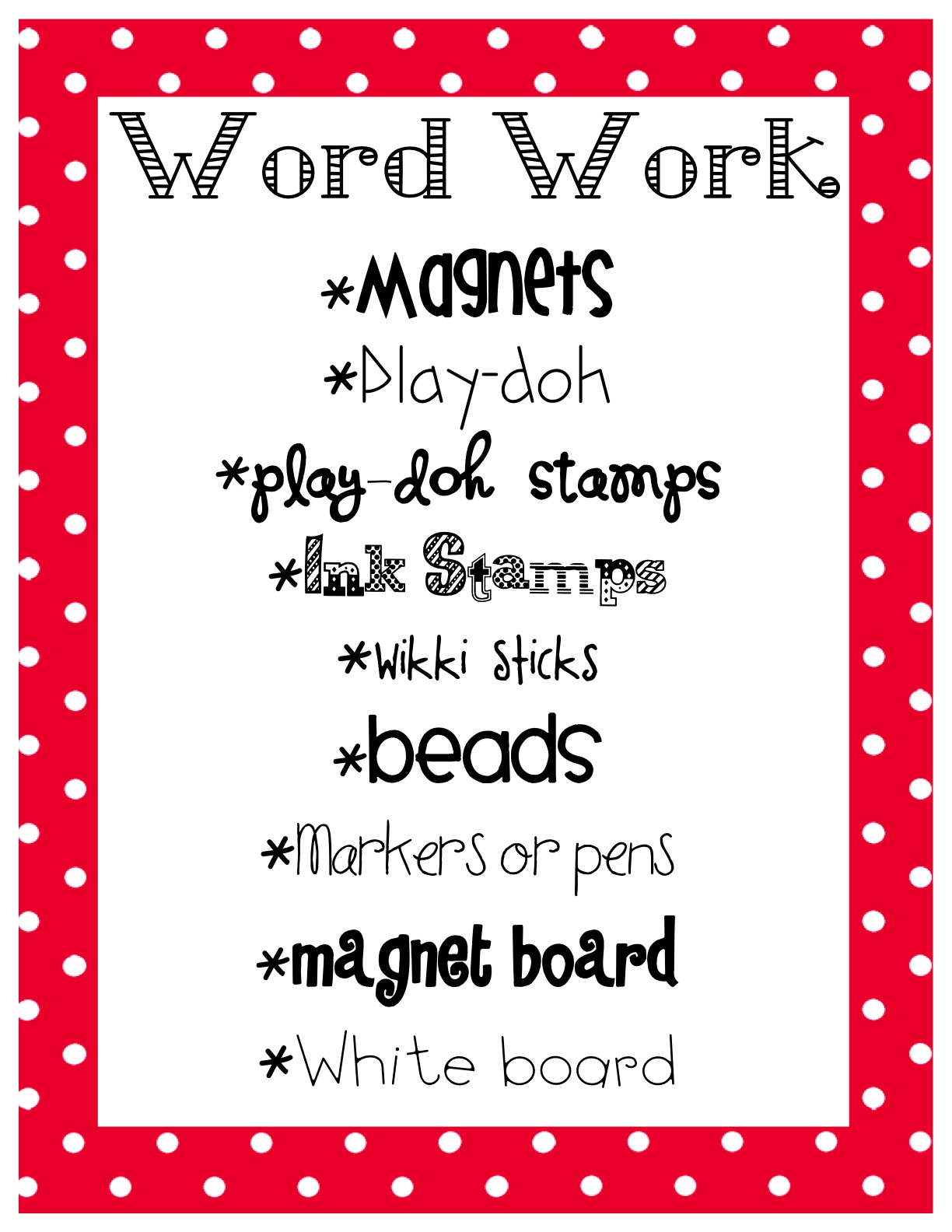 What The Teacher Wants Management Monday Word Work