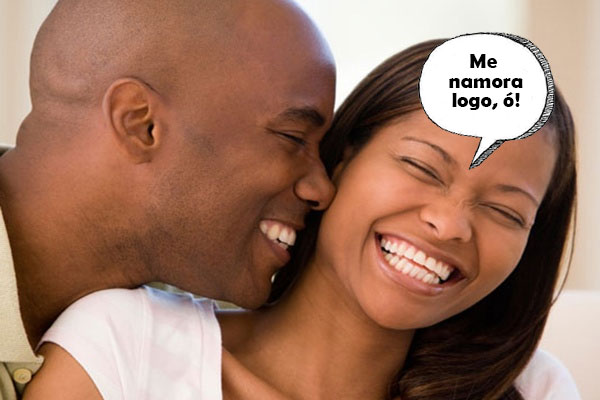 mulher dizendo para o homem a namorar logo