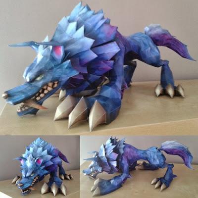 Papercraft League of Legends Wolf Build Photos
