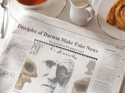 News media for secular science give fake news reports, but so do evolutionists themselves.