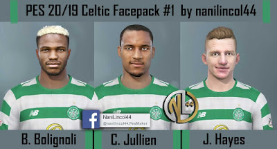 PES 2020 Facepack Celtic v1 by Nanilincol44