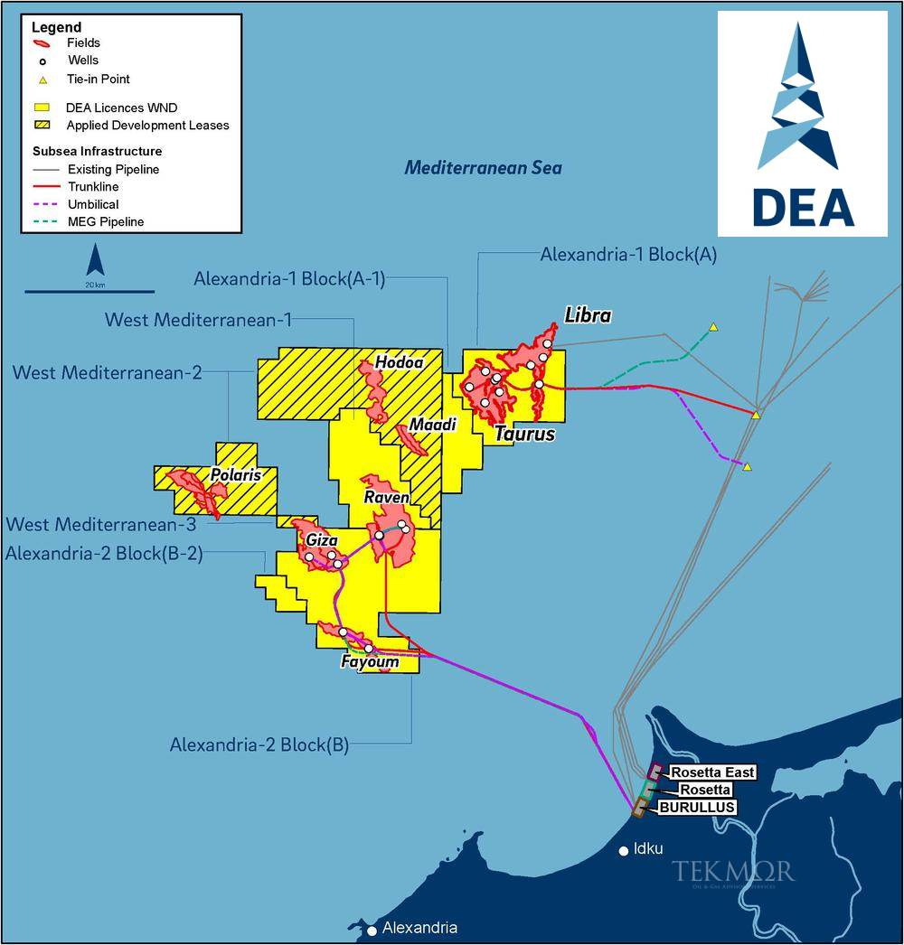 TEKMOR Monitor: First gas from West Nile Delta contributes to DEA's