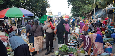 Polresta Tertibkan Lagi Protokol Kesehatan di Pasar Kebon Roek