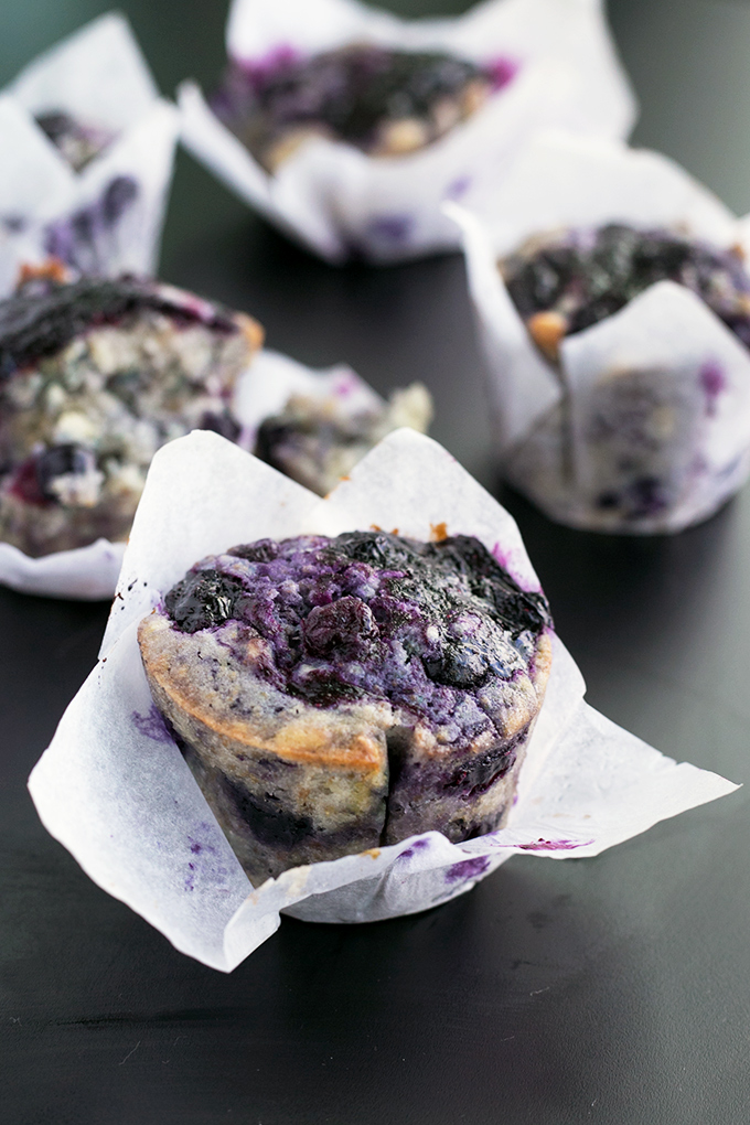 LOADED VEGAN BLUEBERRY MUFFINS #desserts #cakes #vegan #blueberry #easy