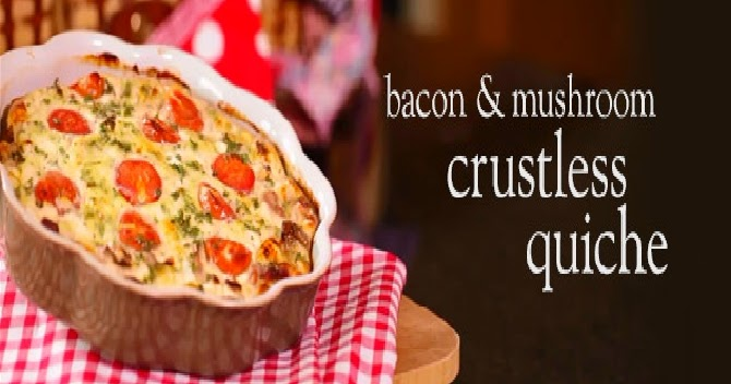Slimming world: Slimming World bacon & mushroom crustless ...