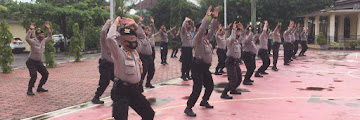 Tingkatkan Kebugaran: Personel Polres Cilegon Laksanakan Beladiri Polri