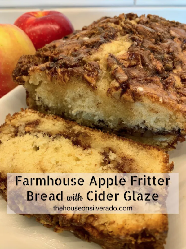 Farmhouse Apple Fritter Bread with Cider Glaze