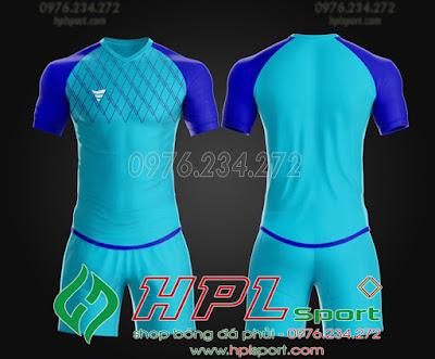 Áo ko logo TA Spe màu xanh