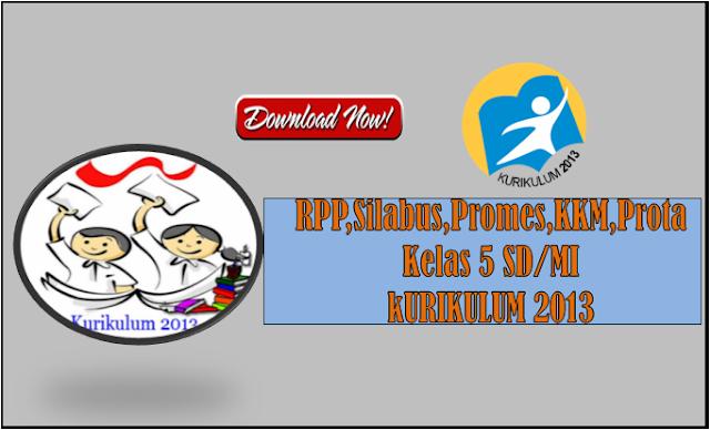 RPP Kurikulum 2013 Kelas 5 SD/MI Revisi Tahun 2017