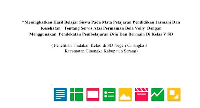 Download Contoh Penelitian Tindakan Kelas (PTK) Penjas SD