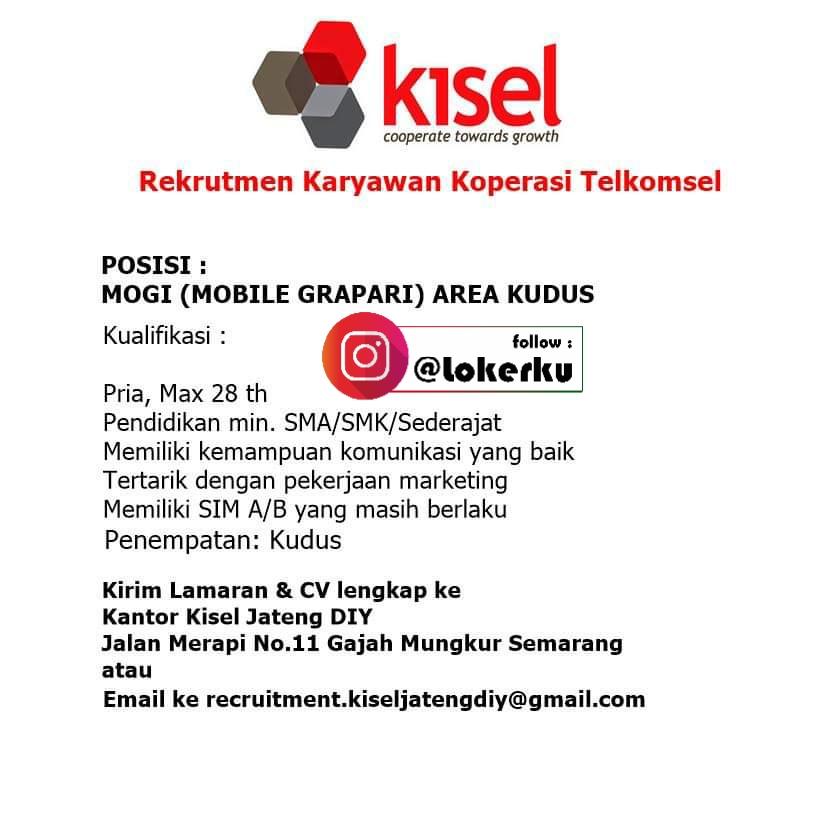 Info Loker Kudus Sebagai Mobile GRAPARI di Koperasi Karyawan Telkomsel Kudus,