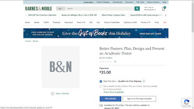 Screenshot of Barnes and Noble website with Better Posters