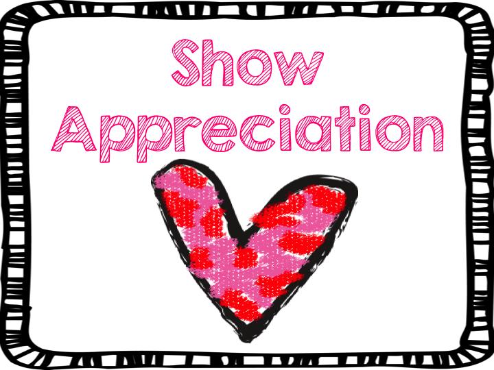 show appreciation teach123