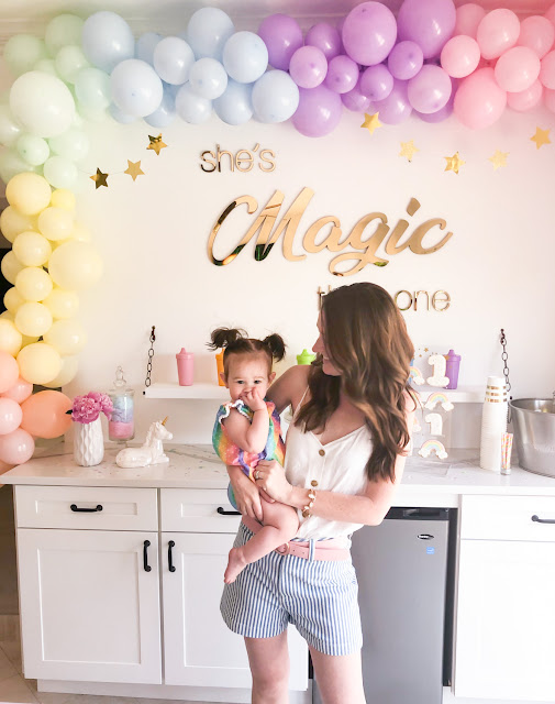 Rainbow First Birthday Party Ideas by The Celebration Stylist