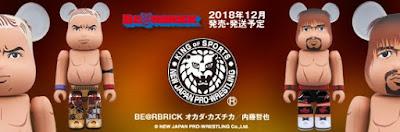 New Japan Pro Wrestling Kazuchika Okada vs Tetsuya Naito 100% Be@rbrick Vinyl Figures by Medicom Toy