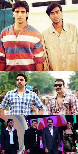 Ajay Devgn with Akshay Kumar, Abhishek Bachchan, Sanjay Dutt and Salman Khan