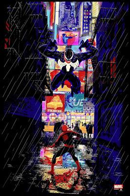 New York Comic Con 2019 Exclusive Spider-Man vs. Venom Screen Print by Raid71 x Grey Matter Art x Marvel Comics