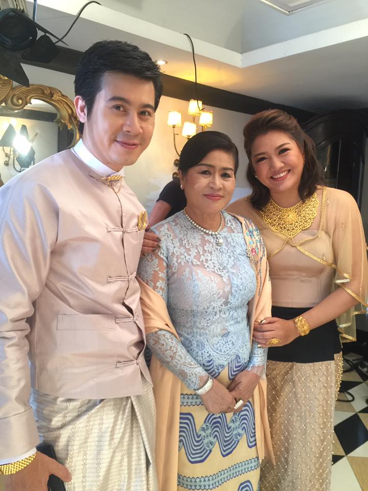 Thet Mon Myint Aung Thamar Di Jewelry TVC Shooting Scenes