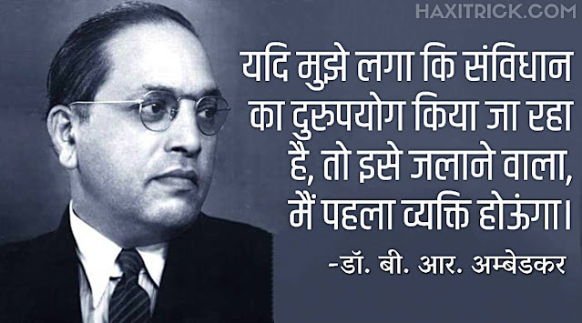 Samvidhan Diwas Hindi Quote By Ambedkar