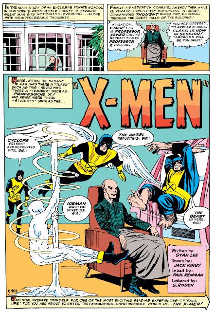 X-Men 1 splash page