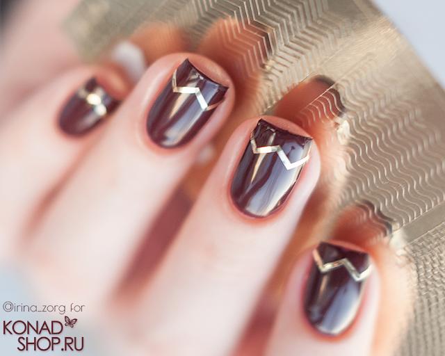 металлизированные наклейки Prima Nails Арт. OR-005 Золото