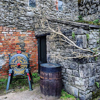 Images of Ireland: Historic farm equipment at Bunratty Castle and Folk Park