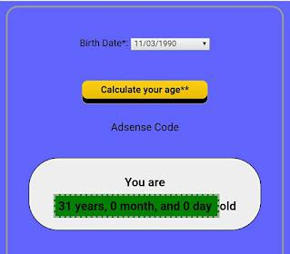Age Calculator Script For Blogger (Premium+Direct Download)